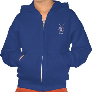 Maccabee Shield And Spears Hooded Sweatshirts