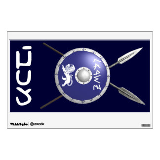 Maccabee Shield And Spears Wall Sticker