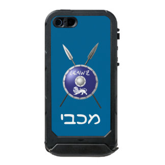 Maccabee Shield And Spears Waterproof iPhone SE/5/5s Case