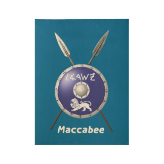 Maccabee Shield And Spears Wood Poster