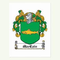 MacCain Family Crest Postcard
