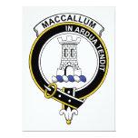 MacCallum Clan Badge 6.5x8.75 Paper Invitation Card