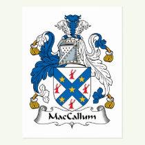MacCallum Family Crest Postcard