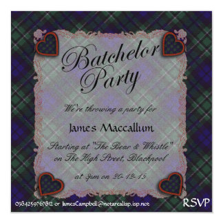 Maccallum Scottish clan tartan - Plaid Card