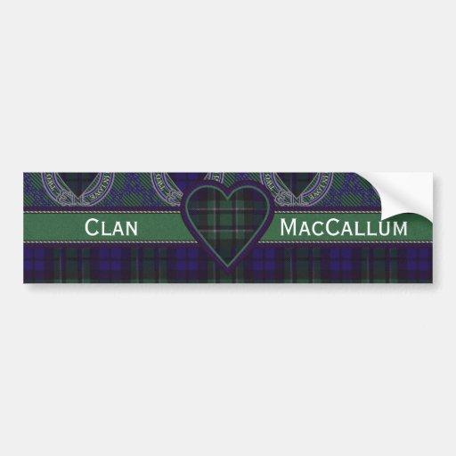 MacCallum Scottish Tartan Hearts Car Bumper Sticker