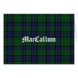MacCallum Tartan Plaid Custom Note Card