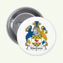 MacCann Family Crest Button