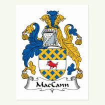 MacCann Family Crest Postcard