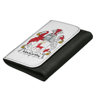 MacCarthy Family Crest Leather Wallet For Women