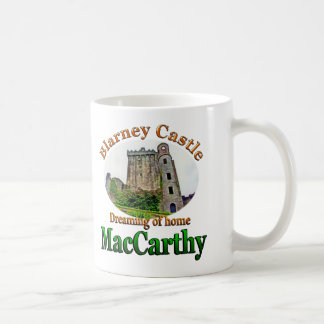MacCarthy que soña con el castillo casero Irlanda Tazas De Café