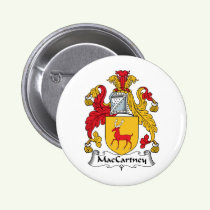 MacCartney Family Crest Button