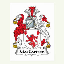 MacCartron Family Crest Postcard