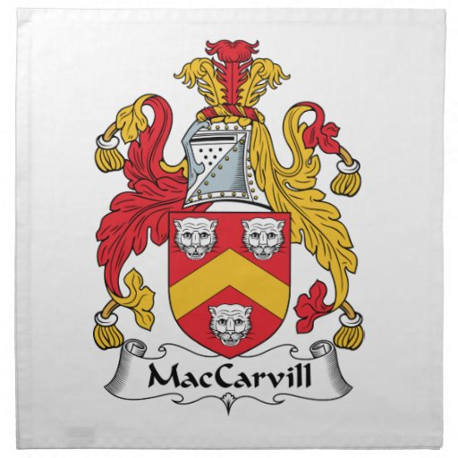 MacCarvill Family Crest Cloth Napkins