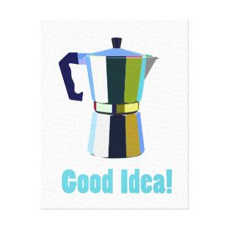 Macchinetta Italian espresso coffee art Good Idea! Canvas Print
