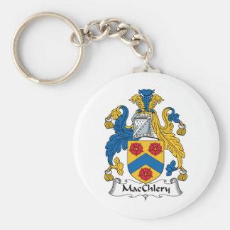 MacChlery Family Crest Basic Round Button Keychain