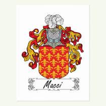 Macci Family Crest Postcard