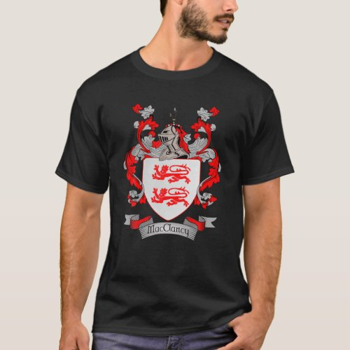 Macclancy Coat Of Arms | Macclancy Surname Family T-Shirt