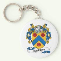 MacClary Family Crest Keychain