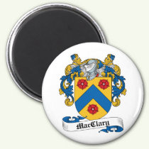 MacClary Family Crest Magnet