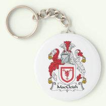 MacCleish Family Crest Keychain