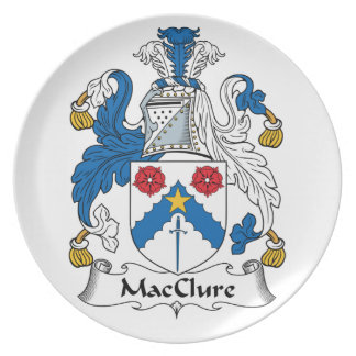 MacClure Family Crest Dinner Plate