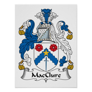 MacClure Family Crest Posters