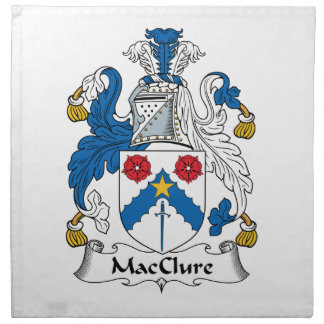 MacClure Family Crest Printed Napkins