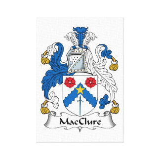 MacClure Family Crest Stretched Canvas Print