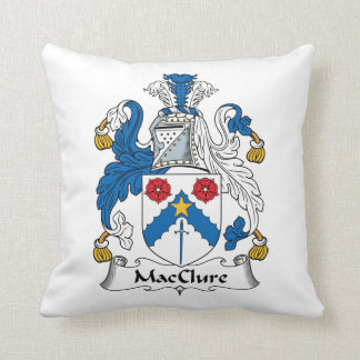 MacClure Family Crest Throw Pillows