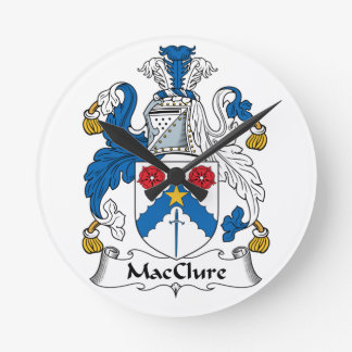MacClure Family Crest Wall Clock