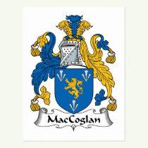 MacCoglan Family Crest Postcard