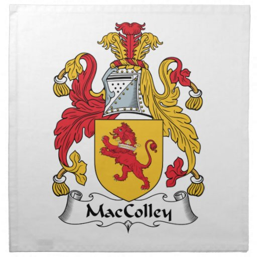 MacColley Family Crest Printed Napkins