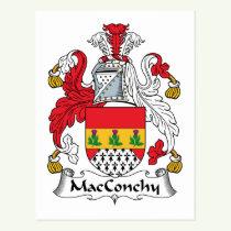 MacConchy Family Crest Postcard