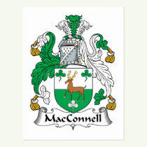 MacConnell Family Crest Postcard