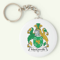 MacConville Family Crest Keychain