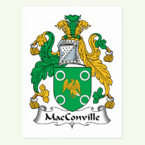 MacConville Family Crest Postcard