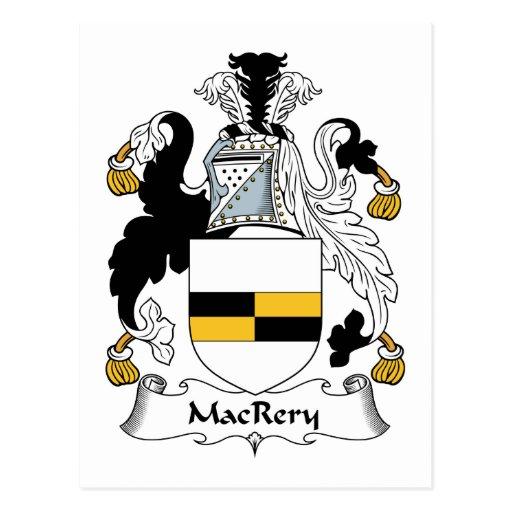 MacCrery Family Crest Postcard