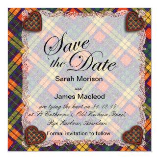 MacCubie clan Plaid Scottish kilt tartan Card