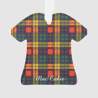 MacCubie clan Plaid Scottish kilt tartan Ornament