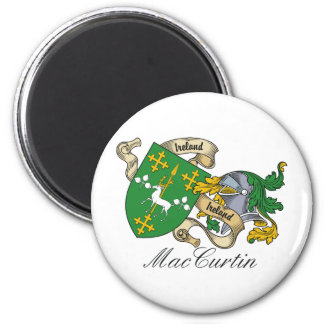 MacCurtin Family Crest 2 Inch Round Magnet