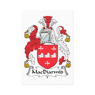MacDiarmid Family Crest Canvas Prints
