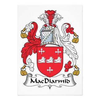 MacDiarmid Family Crest Custom Invitations