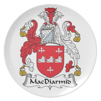 MacDiarmid Family Crest Party Plate
