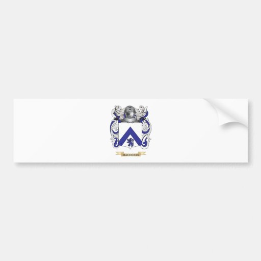 MacDicken Coat of Arms (Family Crest) Car Bumper Sticker