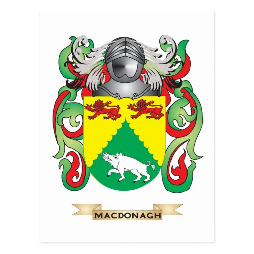 MacDonagh Coat of Arms (Family Crest) Postcard
