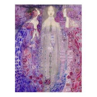 MacDonald Art Nouveau The Three Perfumes Postcard