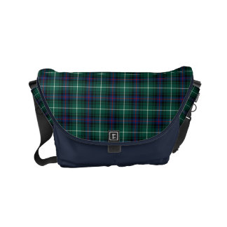 MacDonald Clan Blue and Green Scottish Tartan Small Messenger Bag