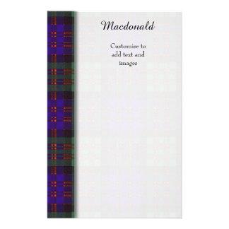 Macdonald clan Plaid Scottish tartan Flyer