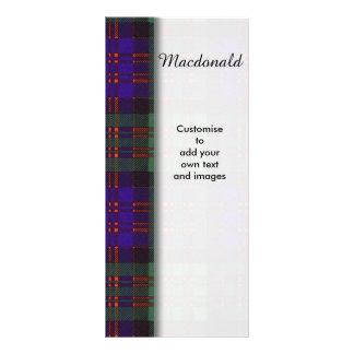 Macdonald clan Plaid Scottish tartan Rack Card