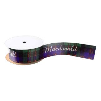 Macdonald Clan Plaid Scottish tartan Satin Ribbon